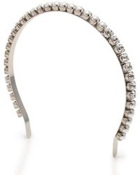 Miu Miu - Headband Hair Accessories Bijou Fake Pearl Silver White Clear - Lyst