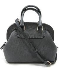 2e2cc995b840 Fendi - Celia Adele 2way Handbag Leather Grey - Lyst