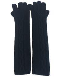 Chanel | Gants Longs T 7,5 En Cachemire Noir ; | Lyst