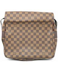 c6d32d28d9b4 Louis Vuitton - Damier Naviglio Shoulder Bag Brown N45255 8634 - Lyst