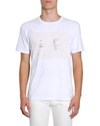 f82132abc Lyst - Raf Simons Face-print Cotton-jersey T-shirt in White for Men