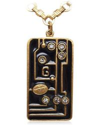 Jean Paul Gaultier | Gaultier Necklace Plate Black Gold Gold Plated Used R553 | Lyst
