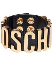 Moschino - Logo Plaque Bracelet - Lyst
