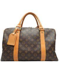 Louis Vuitton | Carryall Handbag Boston Bag M40074 Monogram Brown | Lyst