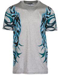 Lanvin - Men's Short Sleeve T-shirt Crew Neckline Jumper Nuovo Dragon Rmje0006e18 Grey - Lyst