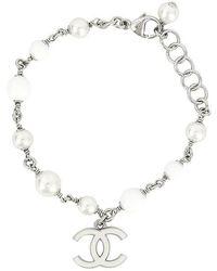 4e7eeeb74a53 Chanel Cruise 2009 Pink & Gold Tone Satin & Chain 'cc' Bracelet in ...