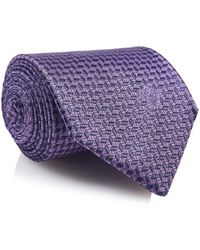 Versace - Tie Purple Cr39sea8844 - Lyst