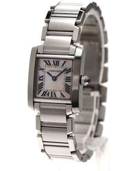 Cartier | Tank Francaise Sm Watches Stainless Steel Women | Lyst