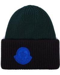 Moncler - Men s 9921408969ak999 Green Wool Hat - Lyst 27c32b196bf