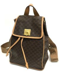 Céline - Macadam Women's Bag Logo Hardware Backpack - Daypack Brown Pvc X Leather - Lyst