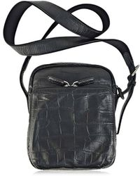 Giorgio Armani - Cross Body Bag Crocodile Print Calf Leather Black Y2m133  (s) - 7fe5f5197d7b9