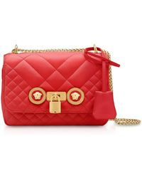 f9dc53bd2d Versace - Small Quilted Leather Icon Small Shoulder Bag - Lyst