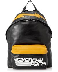 295021ad840a Lyst - Givenchy Logo Print Leather Backpack in Black for Men