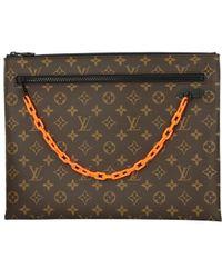 37f2a5ded3a Louis Vuitton - Pochette A4 Monogram Virgil Abloh Clutch Bag Men  new  -  Lyst
