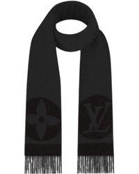 Louis Vuitton - Cardiff Muffler Dark Gray/black Wool90%/cashmere10% M70482[brand New][authentic] - Lyst