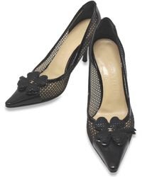 Chanel | Clover Cc Mesh Heel Pumps Patent Leather | Lyst