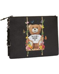 Lyst - Moschino Couture Borsa Tracollina Pelle Stampa Power Puff in ...