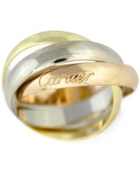Cartier - Trinity De Triplet Classic Ring Ring / 18 Ky + W + P / 750, 3 Color - 6.9 G /h190112■226856 - Lyst