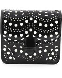 Alaïa   Flap Shoulder Bag Laser Cut Leather Medium   Lyst
