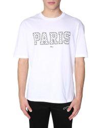 """Dior Homme - """"paris"""" Cotton T-shirt - Lyst"""
