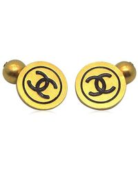 Chanel - Authentic 94 A Cc Logo Gold Plated Cufflinks Button 18005094ck - Lyst