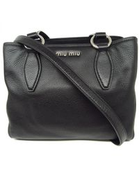 c734db31fc98 Lyst - Miu Miu Authentic Patent Leather 2 Way Shoulder Bag Black in ...