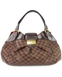 f050fa41fa3c Louis Vuitton - Sistina Gm Shoulder Bag N41540 Damier Canvas Ebene Used  Vintage - Lyst