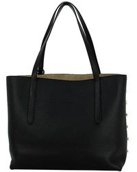 Jimmy Choo - Tote Bag Twist East West Leather Black White Shoulder Bag Women [new] - Lyst