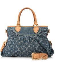 Louis Vuitton - Pre-owned Monogram Denim Neo Cabby - Lyst