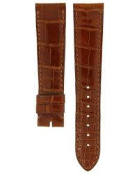 Cartier - Shiny Brown Crocodile Leather Strap 18mm/16mm - Lyst