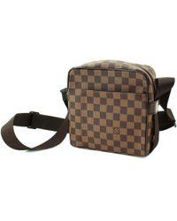 3f233d1d622e Louis Vuitton - Damier Olav Pm Shoulder Bag Ebene Purse N41442 90042474.. -  Lyst