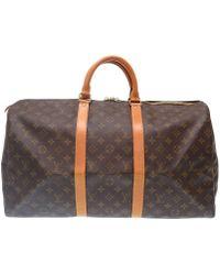 Louis Vuitton - M41426 Monogram Keepall 50duffle Bag Brown Monogramcanvas Lv 0267 - Lyst