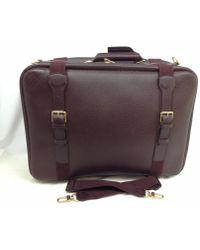 Louis Vuitton | Acajou Taiga Leather Satellite 53 Suitcase 6a130500 | Lyst