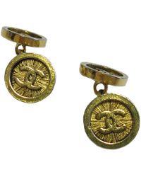 Chanel - Cufflinks In Gilded Metal - Lyst