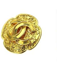 Lyst - Chanel Brooch Gold Vintage Antique 94a Accessory 70162042 ... 069e91401ef