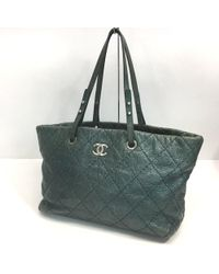 Chanel - On The Road Quilted Tote Bag Purple Calf Leather A48020 - Lyst d0e51d086f
