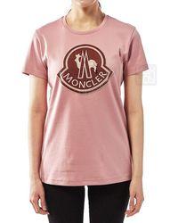 Moncler - Women's Logo T-shirt - Lyst
