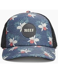 cb324a7b2db Lyst - Reef Elements Hat in Black for Men