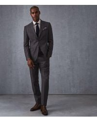 Reiss - Beakon - Modern Fit Checked Suit - Lyst