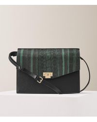 Reiss - Conway Snake Leather Shoulder Bag - Lyst