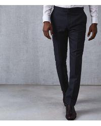 Reiss - Maruso - Wool Slim Fit Trousers - Lyst