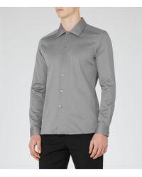 Reiss - Jonjo Spread Collar Slim Fit Shirt - Lyst