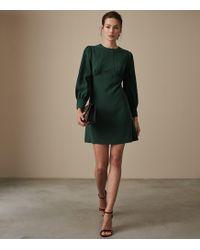 edb97650ecb Reiss - Analise - Seam Detail Crepe Dress - Lyst