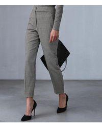Reiss - Perla Trouser - Puppytooth Printed Slim Leg Trousers - Lyst
