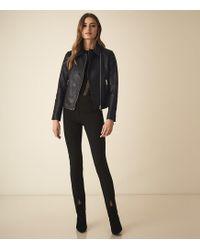 2a695d075b18 Reiss Hatto Open-front Jacket in Black - Lyst