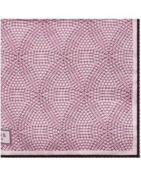 Reiss - Bolt Patterned Silk Pocket Square - Lyst