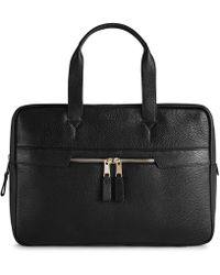 Reiss - Lindberg - Pebbled Leather Briefcase - Lyst