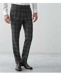 Reiss - Bondi - Slim Fit Checked Trousers - Lyst