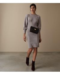 Reiss - Nordica - Flute Sleeve Knitted Dress - Lyst