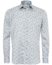 Etro - Square Chains & Paisley Print Shirt, Regular Fit Sky Blue Shirt - Lyst